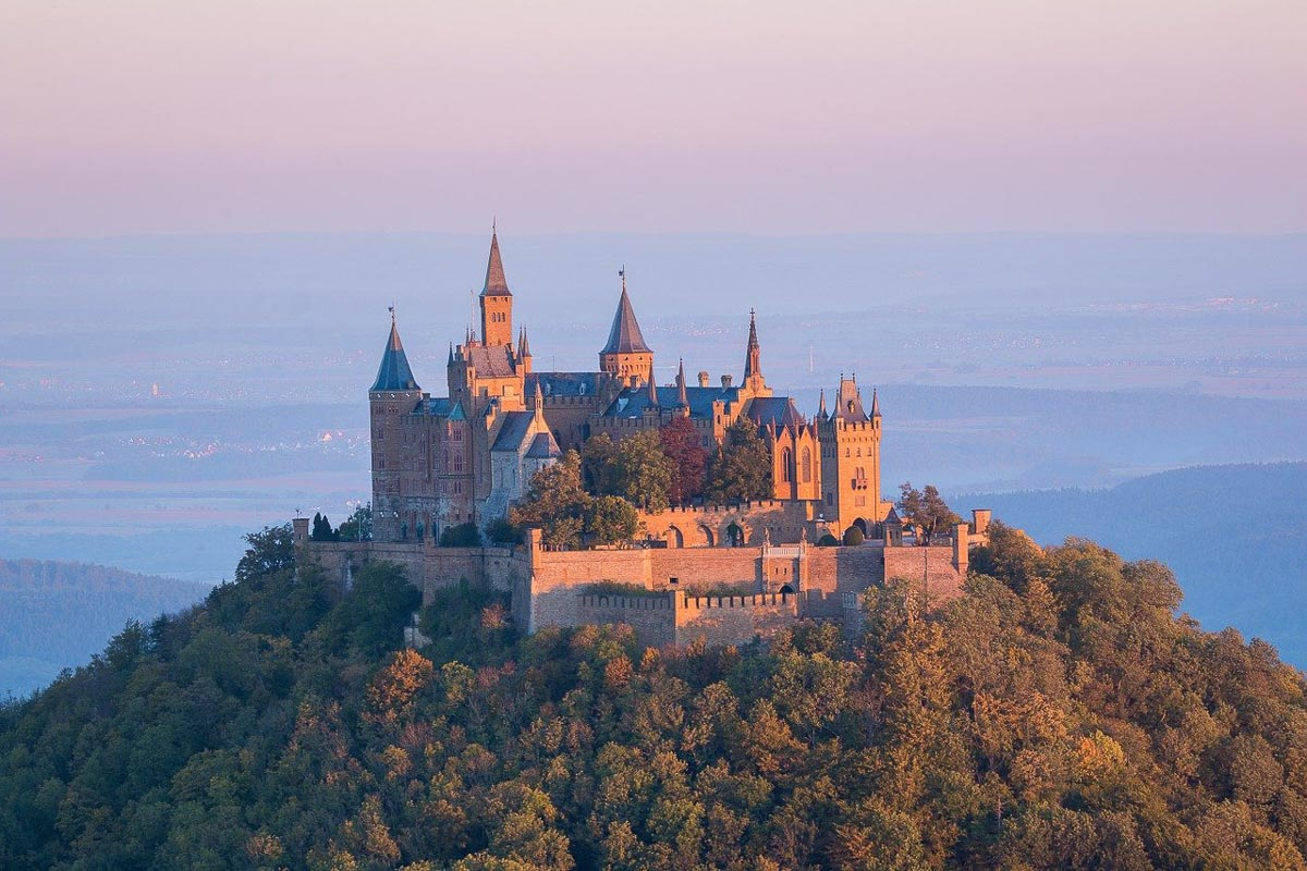 Hohenzollern Castle aerial shot