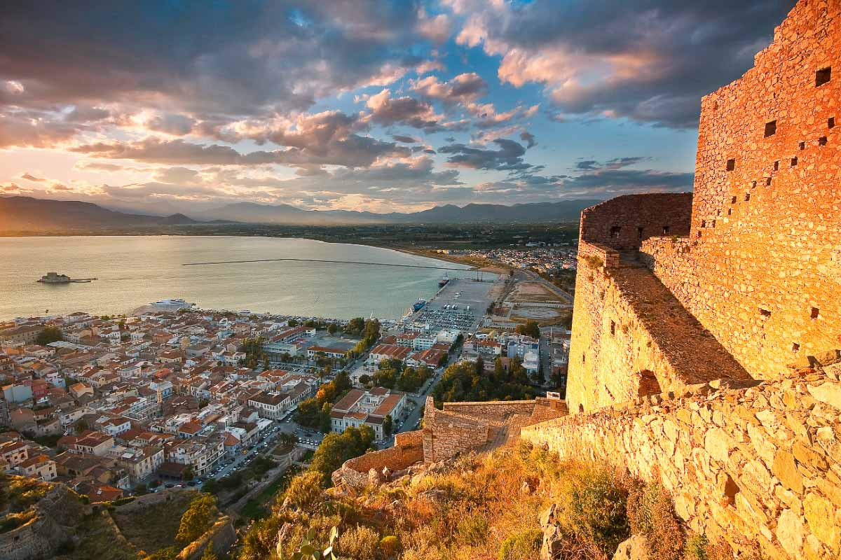 Nafplio view from the castle