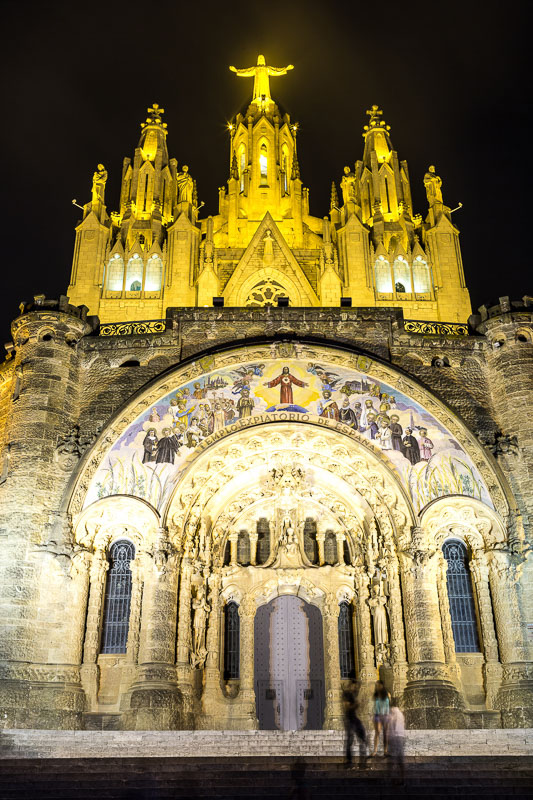 Church of the Sacred heart of Jesus in Barcelona in Spain