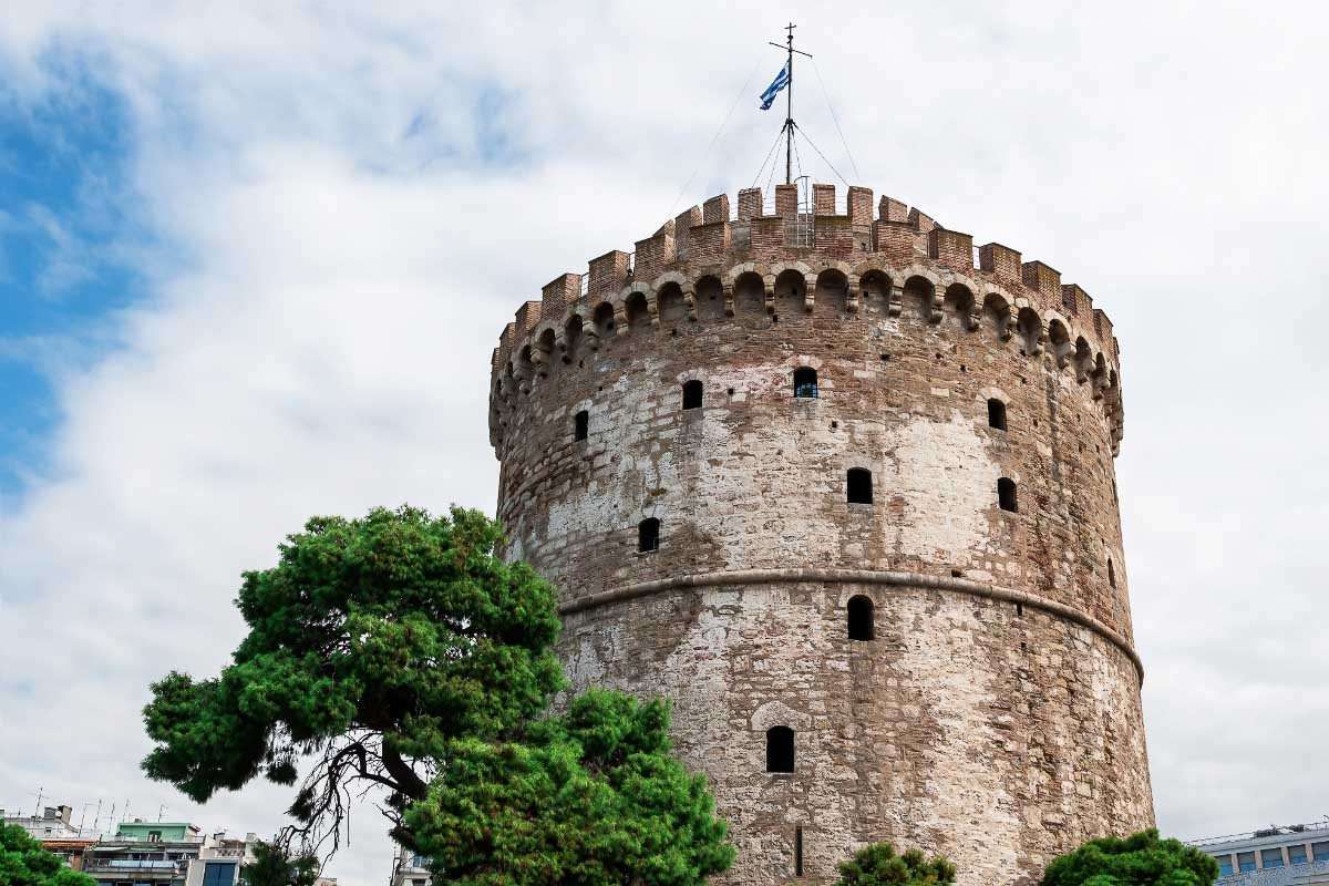 White Tower of Thessaloniki Greece one of the famous greek landmarks