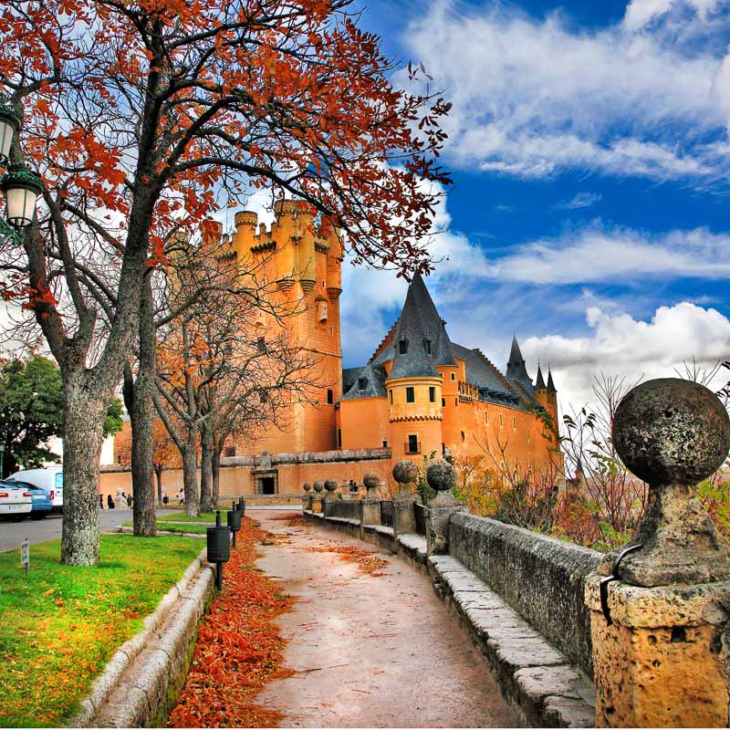 Fairy castle Alcazar, Segovia, Spain