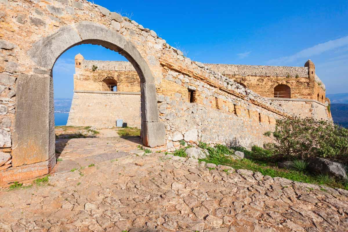Palimidi Fortress in Nafplio Greece