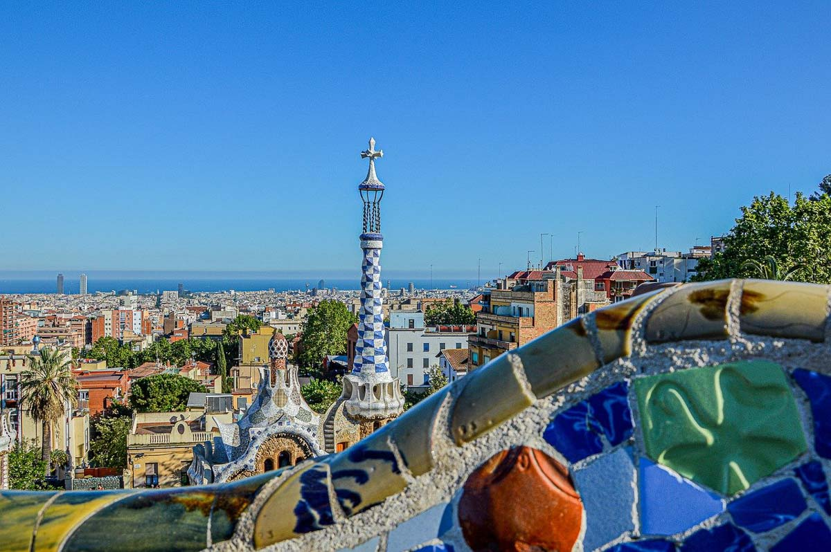 Park Guell with view