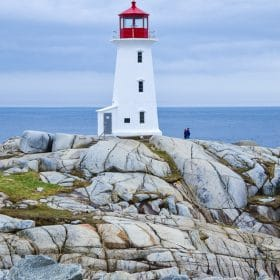 peggys point lighthouse nova scotia canada