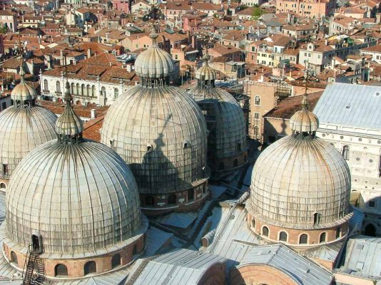 rooftops and domes of Venice