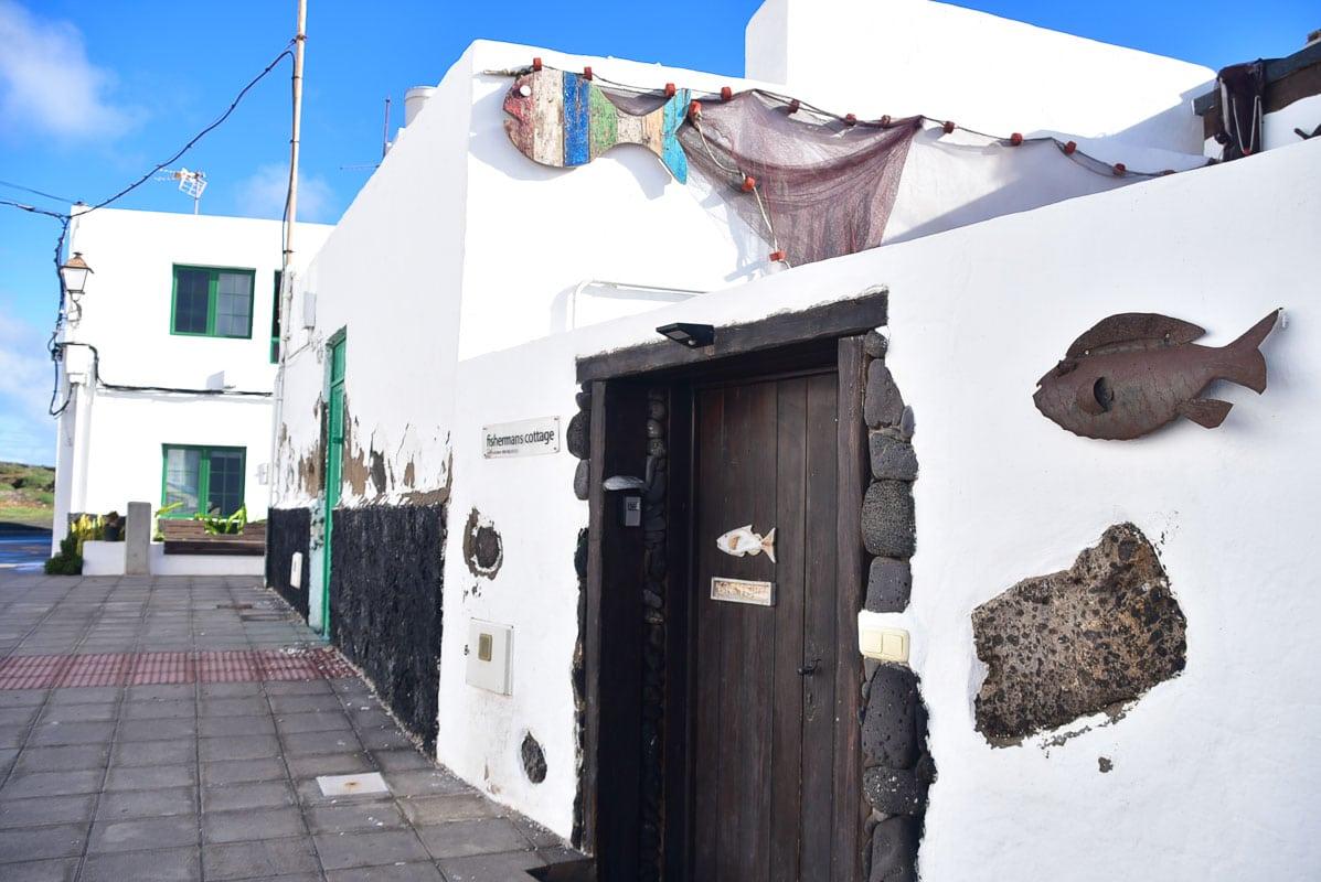 Lanzarote Arrieta fisherman's cottage