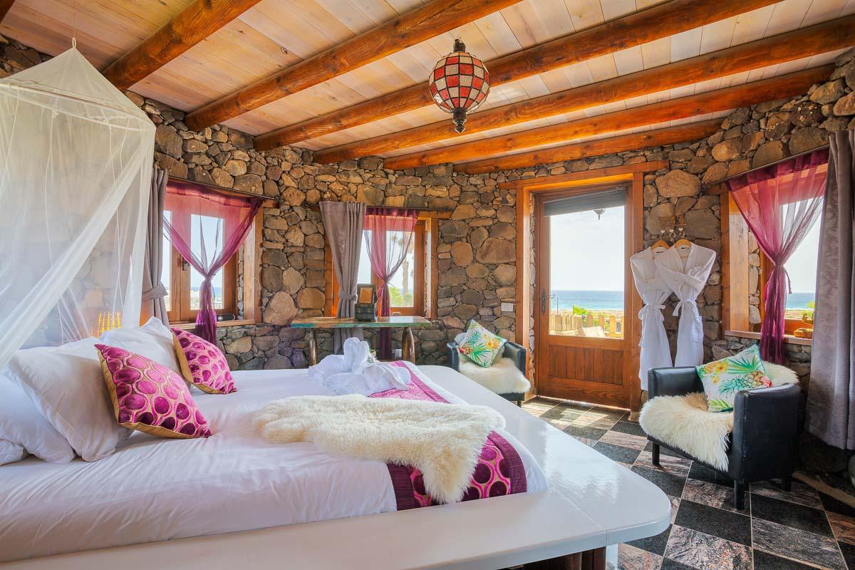Lanzarote Eco Finca de Arrieta eco tower top bedroom