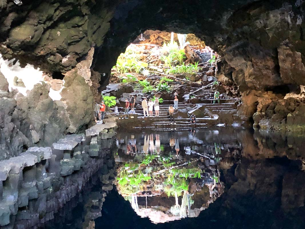 Lanzarote Jameos del Agua looking back