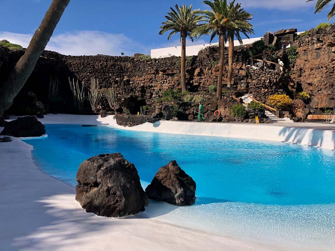 Lanzarote Jameos del Agua swimming pool