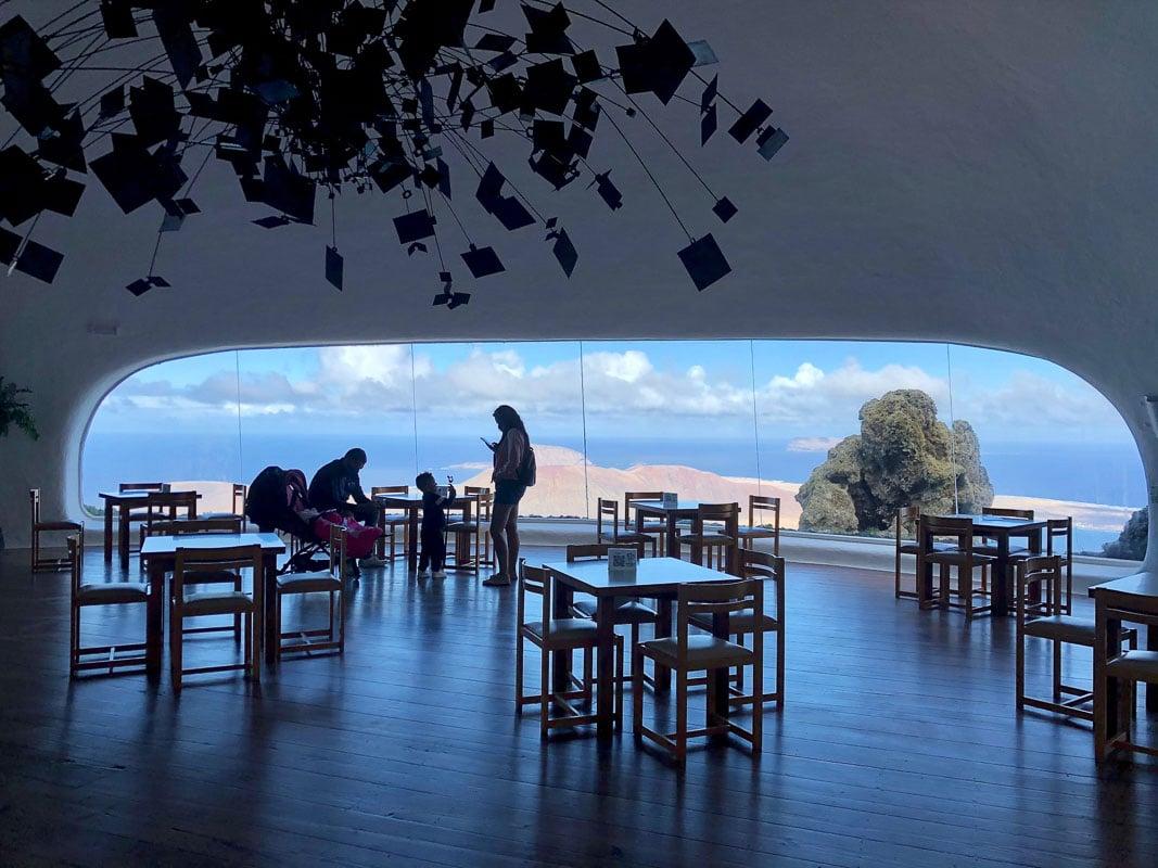 Lanzarote Mirador del Rio view from inside