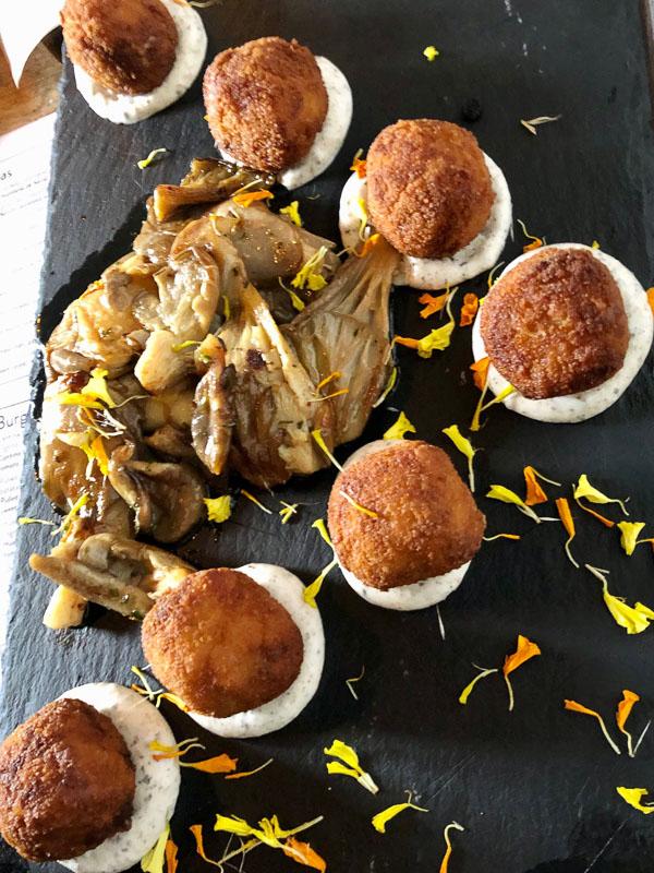 Lanzarote Teguise Cantina restaurant mushroom croquettes