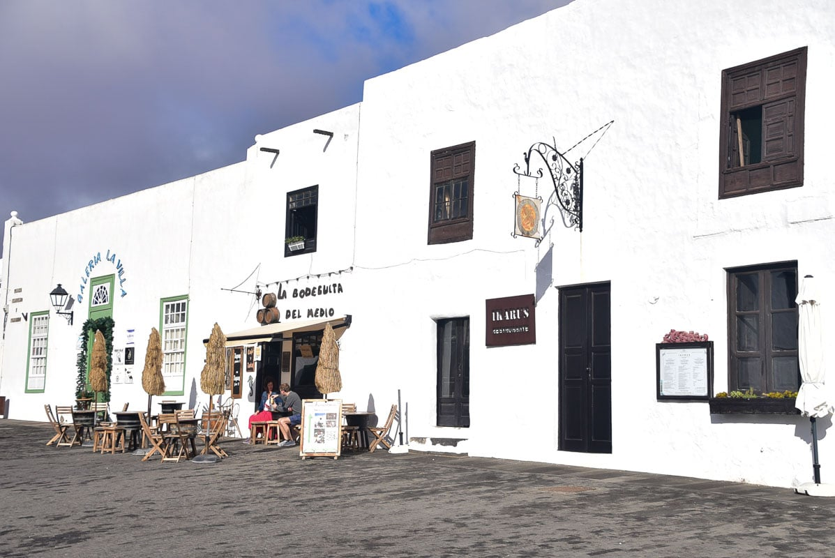 Lanzarote Teguise restaurant and shop