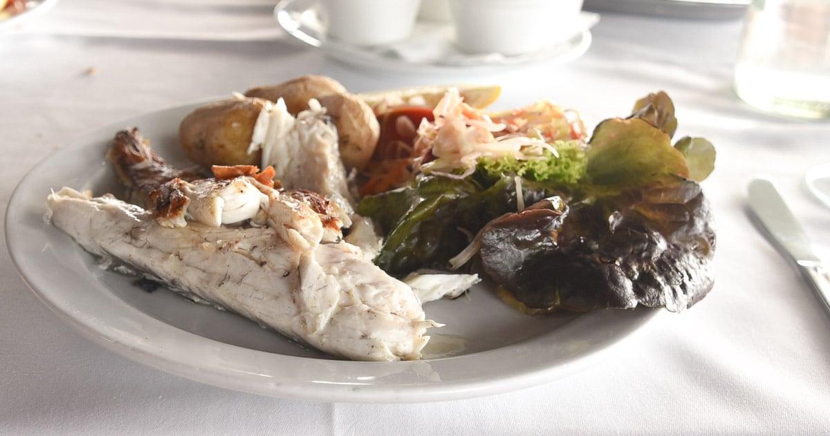 Lanzarote el golfo restaurant fish lunch
