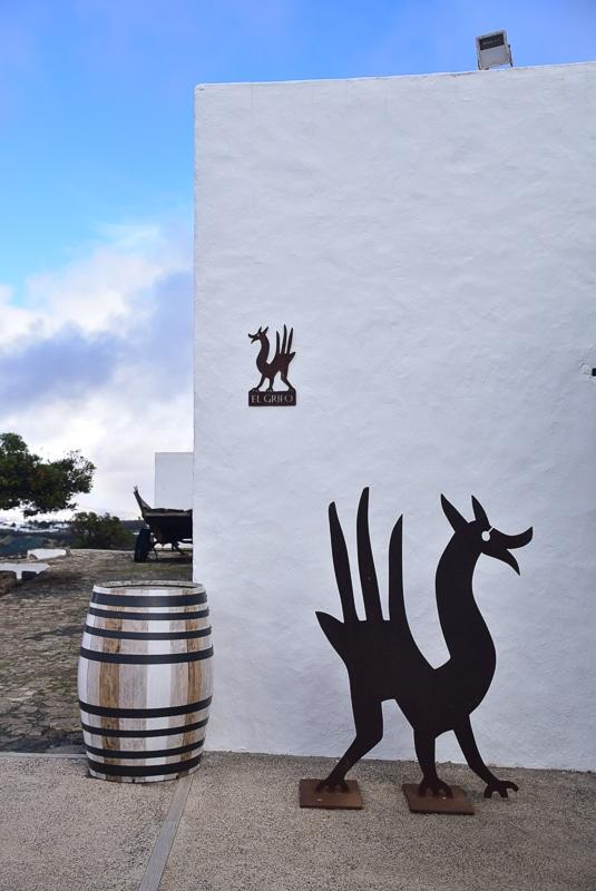 Lanzarote el grifo winery entrance