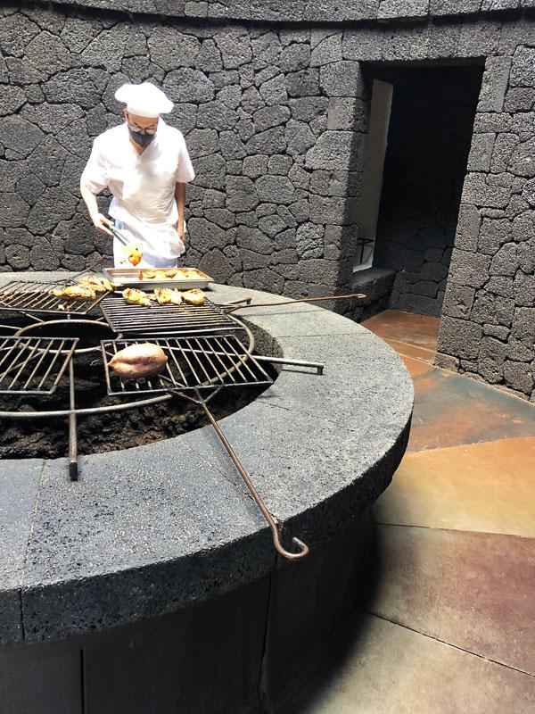 Lanzarote timanfaya park El diablo restaurant chef