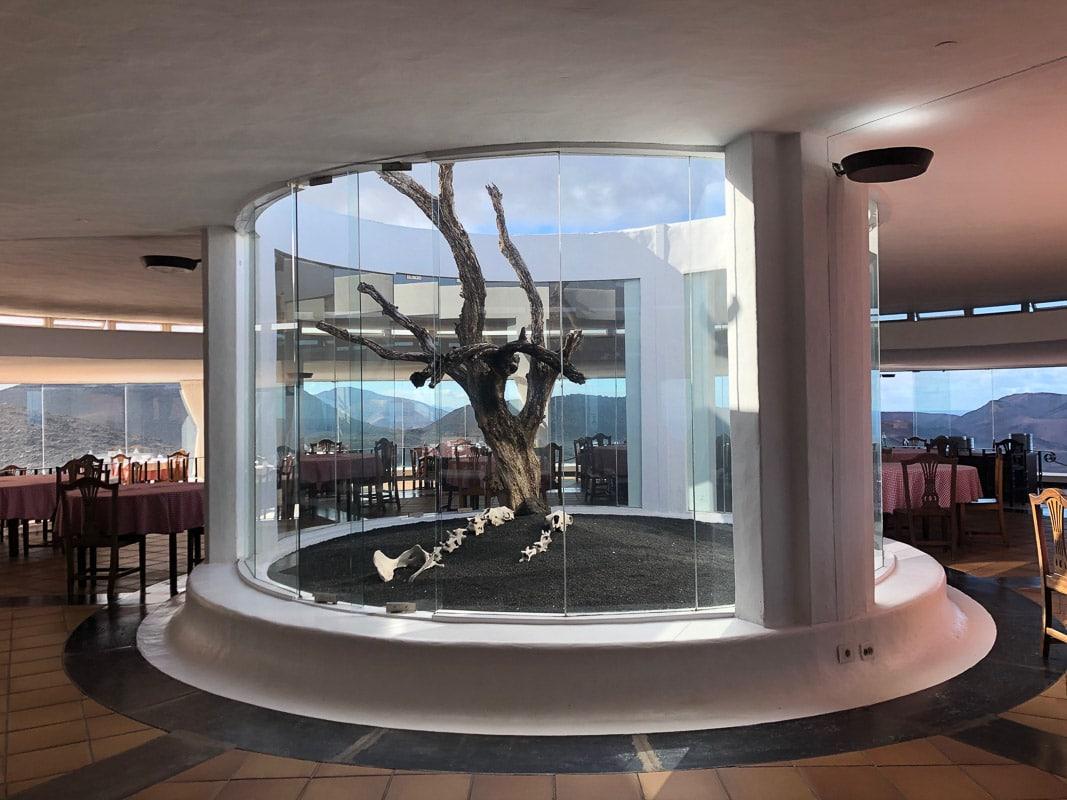 Lanzarote timanfaya park El diablo restaurant interior