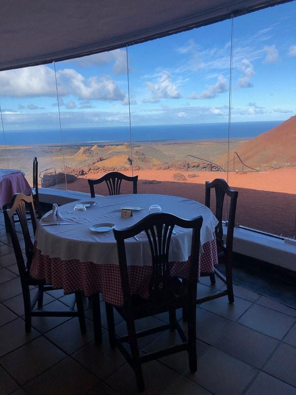 Lanzarote timanfaya park El diablo restaurant view