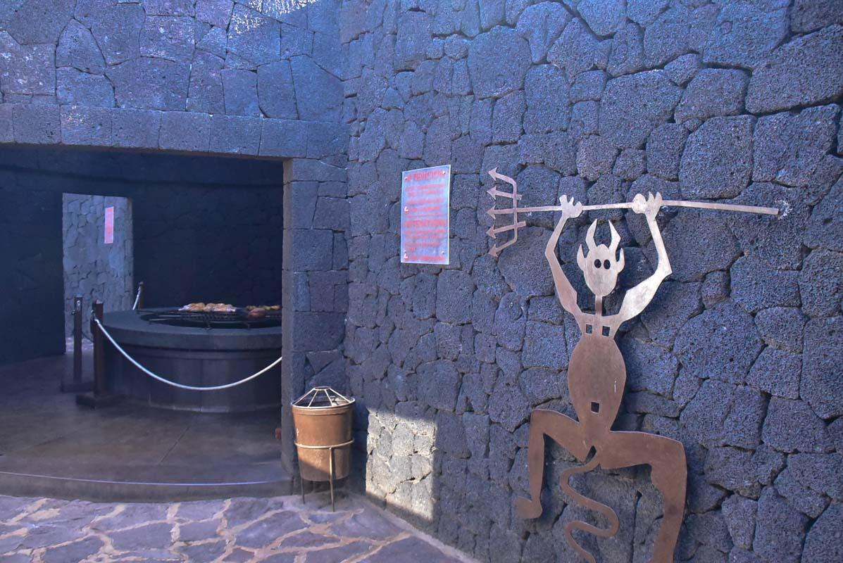 Lanzarote timanfaya park El diablo restaurant.