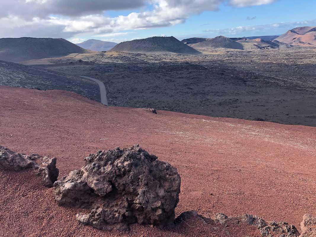 Lanzarote timanfaya park rock and view