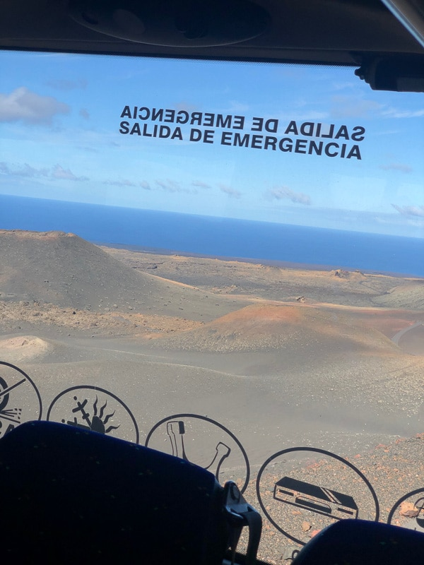 Lanzarote timanfaya park view from the bus