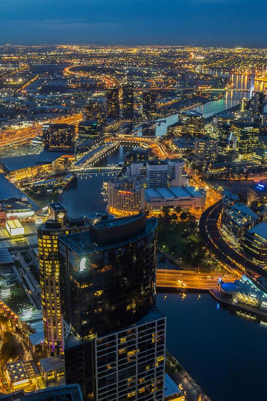 Melbourne Eureka Tower at Night