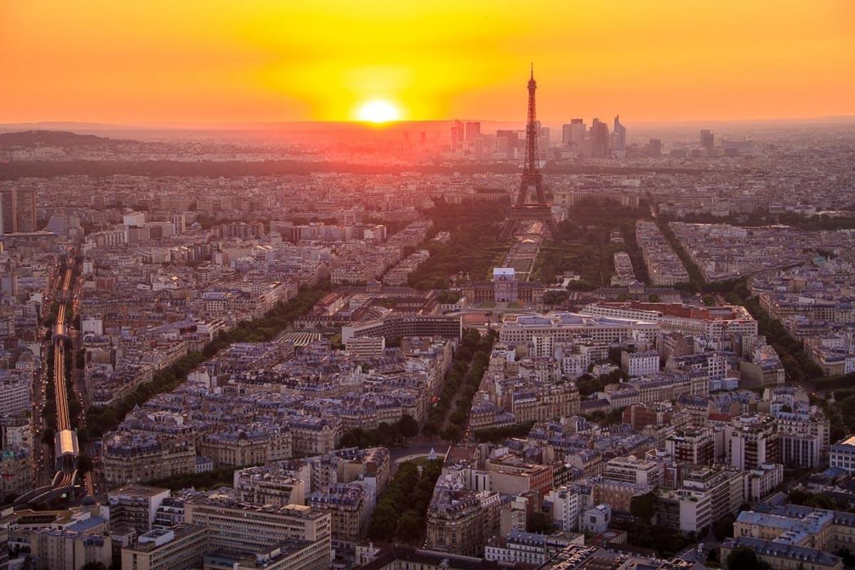The city of Paris at Sunrise