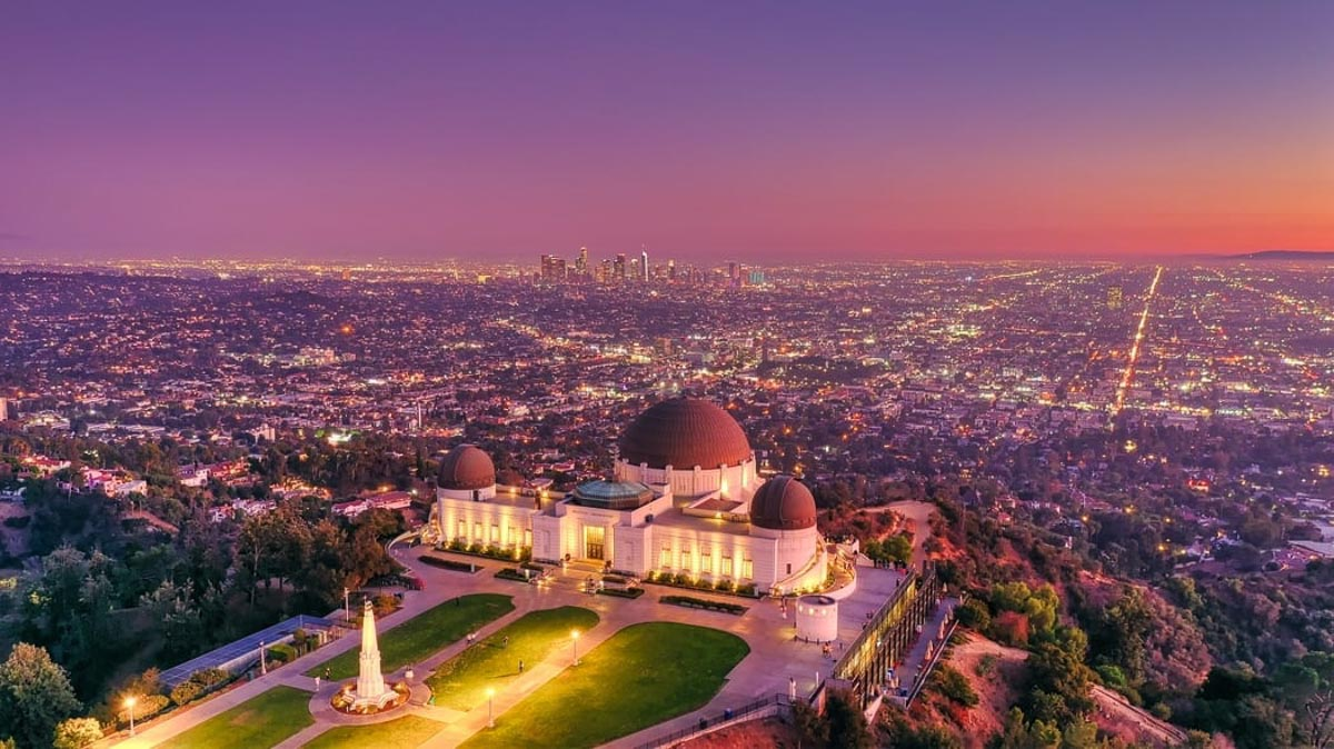 Sunset_Griffith_Observatory_Los_angeles_California