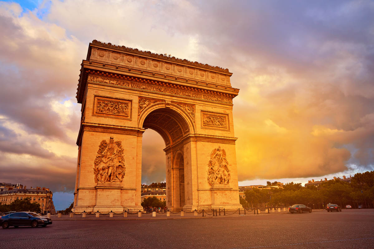 Arc de Triomphe Paris at Sunrise
