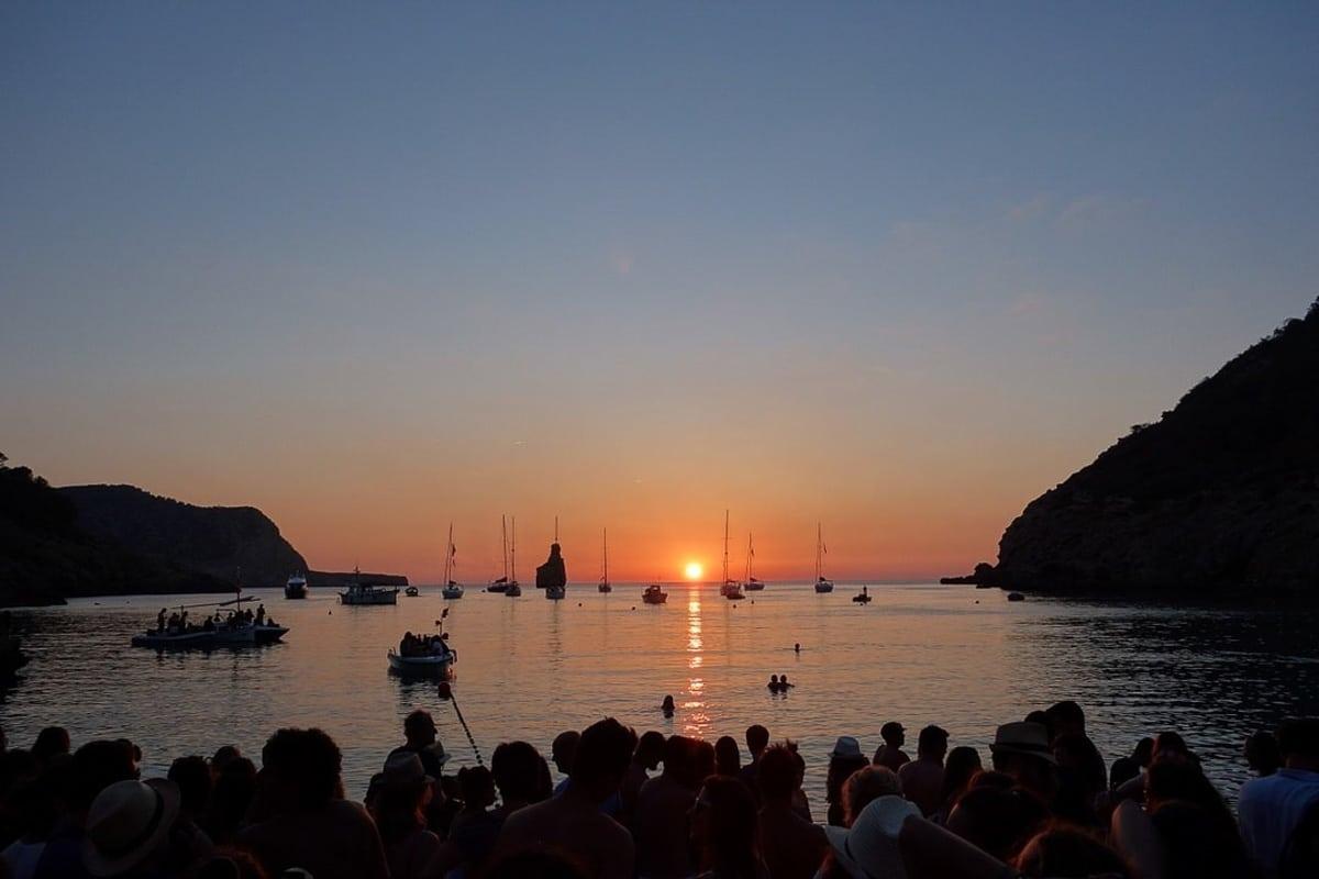 cala_benias_sunset ibiza spain