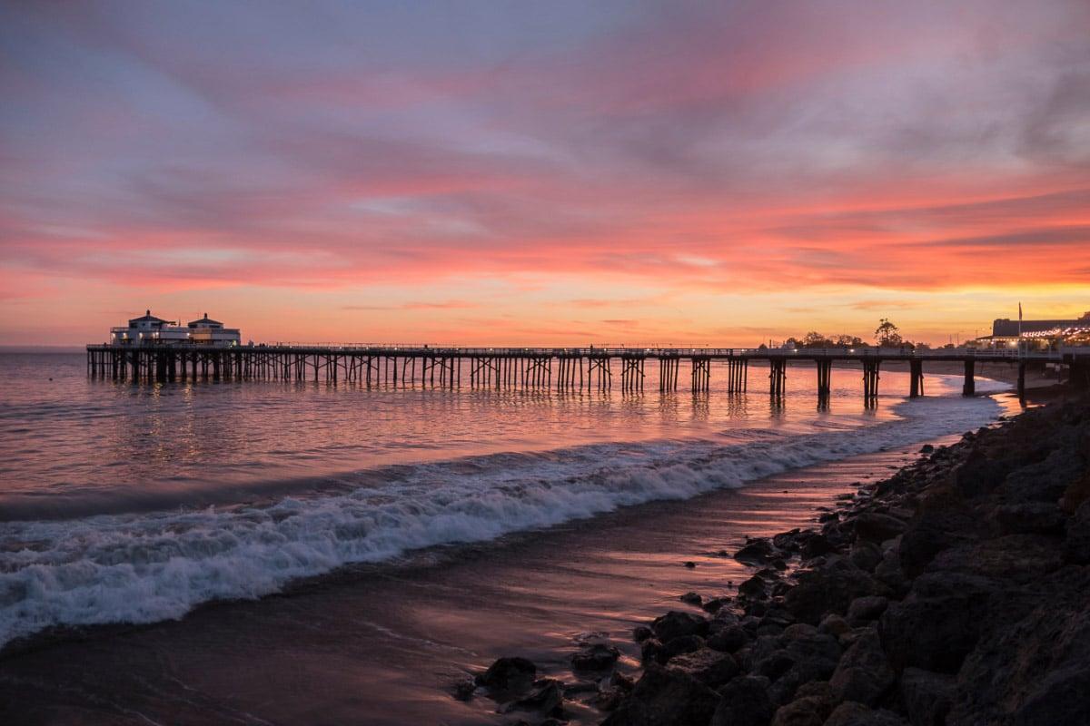 california sunset in malibu