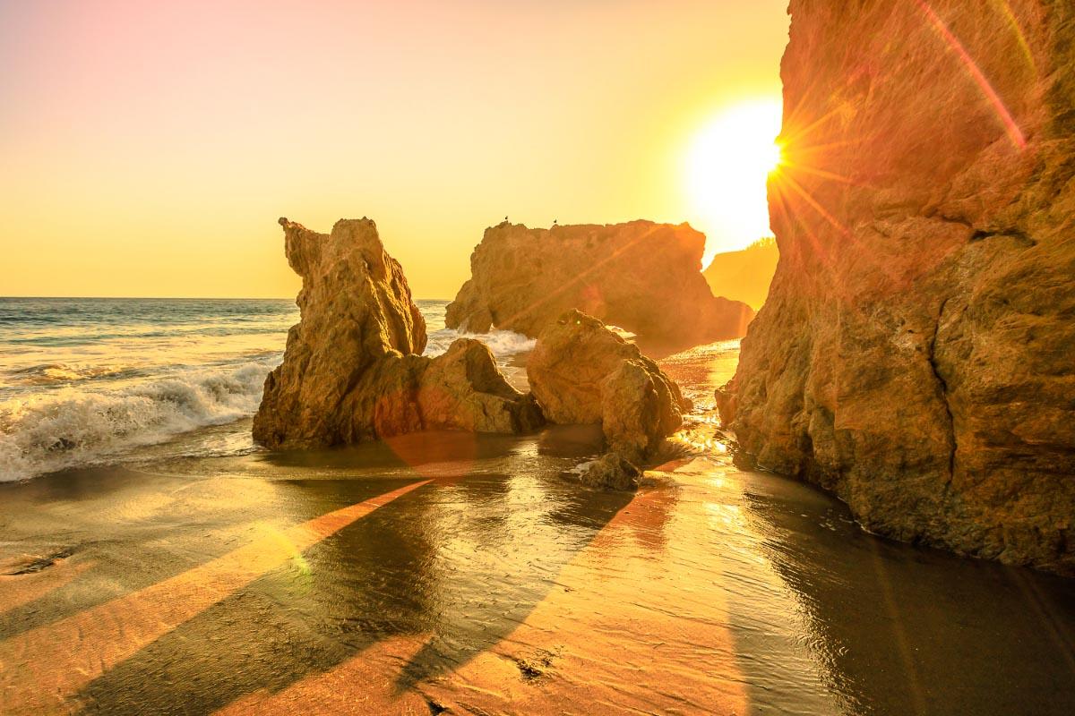 el matador beach california sunset