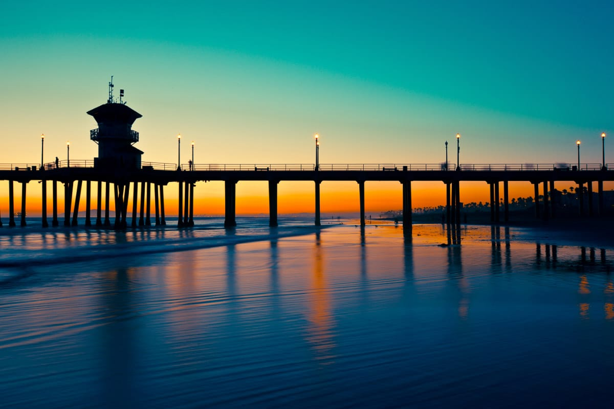 huntington beach california sunset