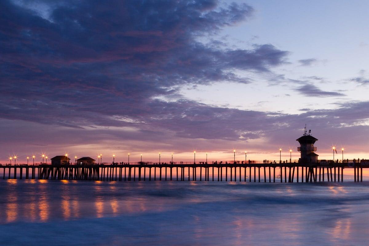 huntington beach sunset california