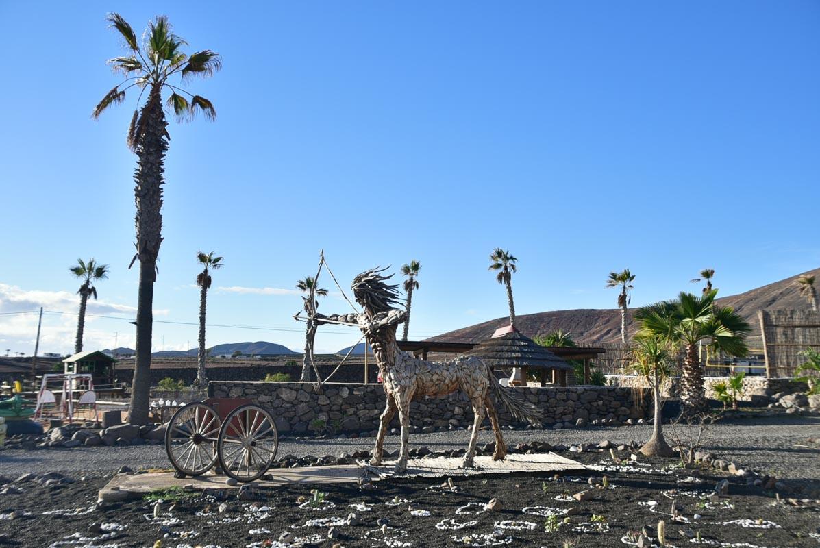 lanzarote eco finca de arrieta cactus garden statue