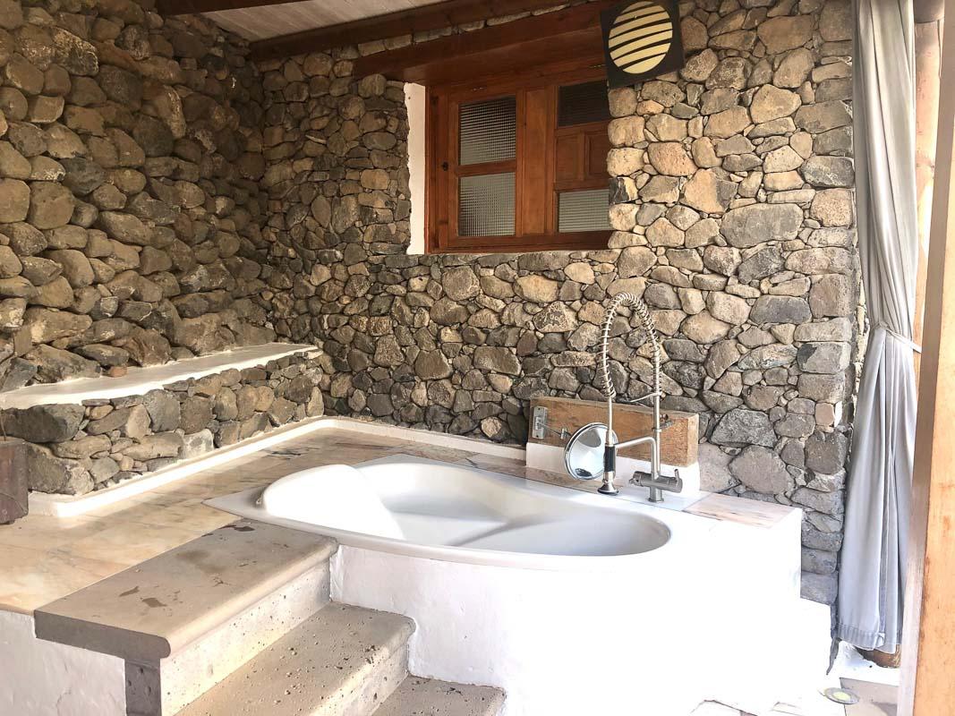 lanzarote eco finca de arrieta largest yurt outdoor bath