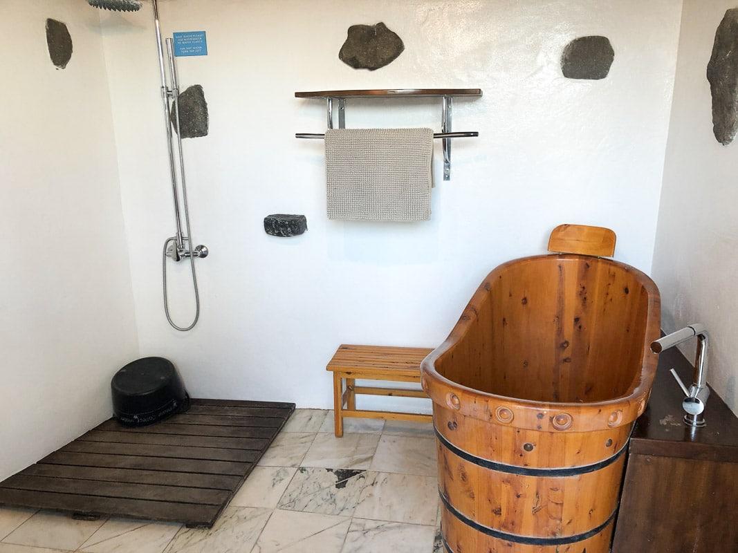lanzarote eco finca de arrieta luxury yurt bathroom