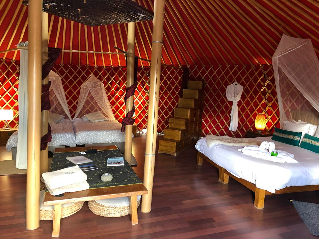lanzarote eco finca de arrieta luxury yurt beds