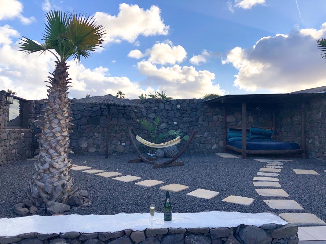 lanzarote eco finca de arrieta luxury yurt outdoor area