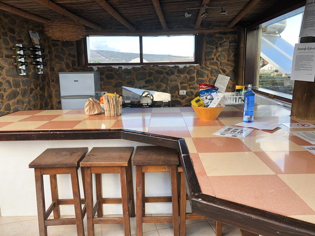 lanzarote eco finca de arrieta luxury yurt outdoor kitchen