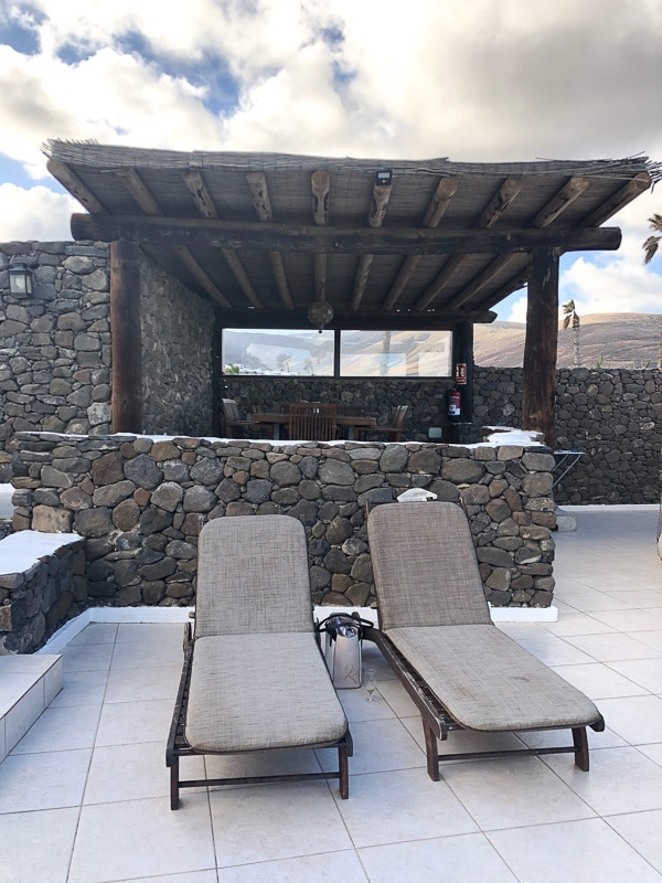 lanzarote eco finca de arrieta luxury yurt sun loungers