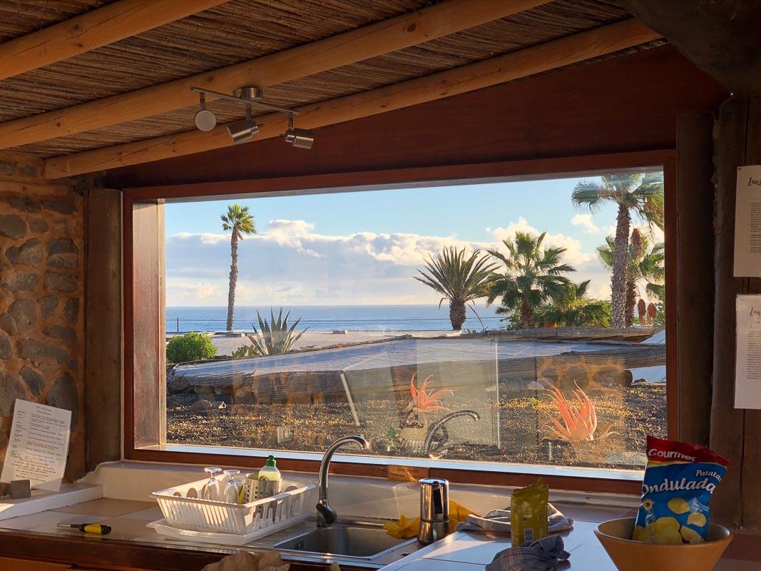 lanzarote eco finca de arrieta view from outdoor kitchen