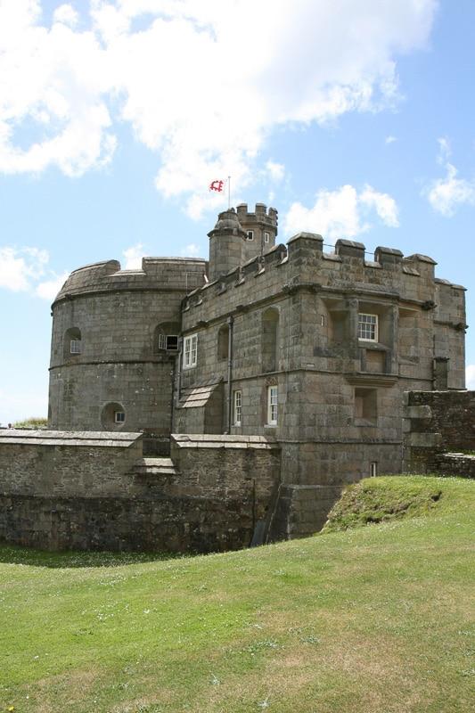 pendennis castle cornwall england.