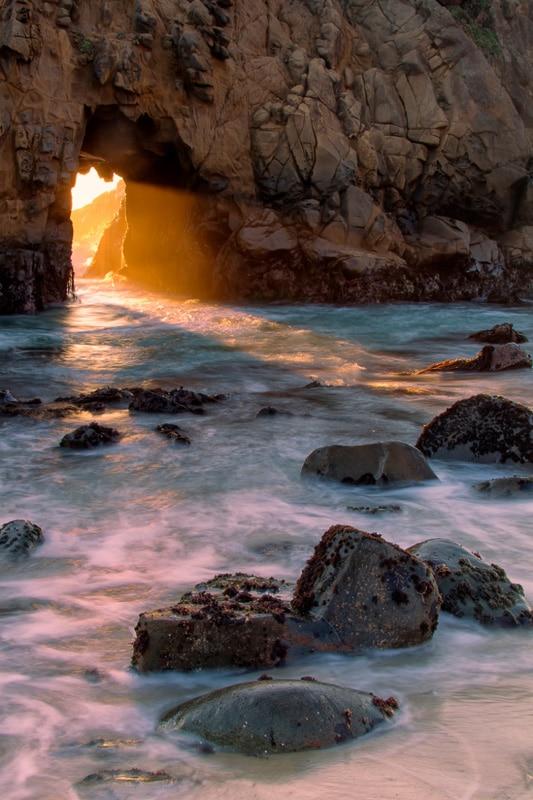 pfeiffer beach california sunset