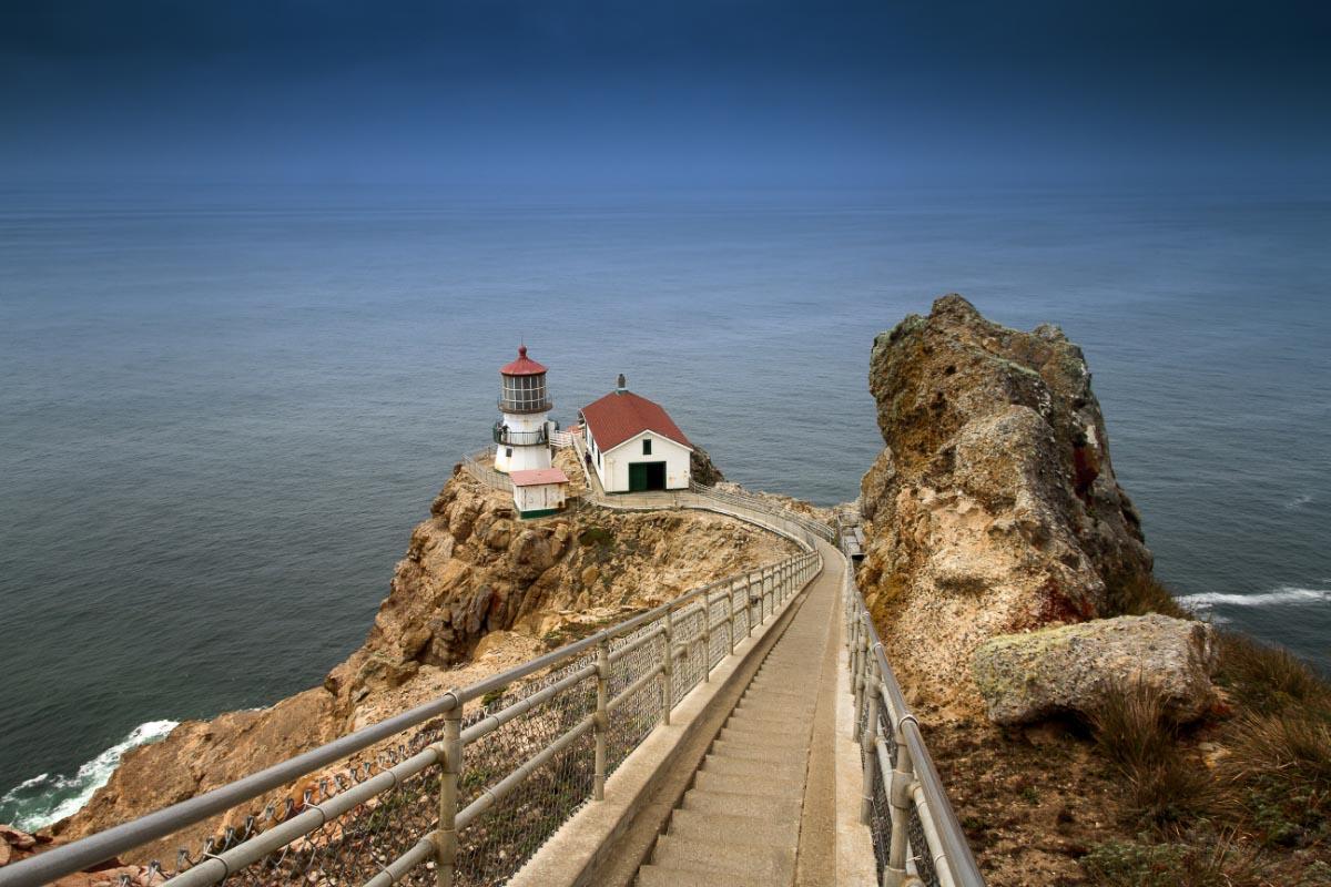 point reyes lighthouse california sunset