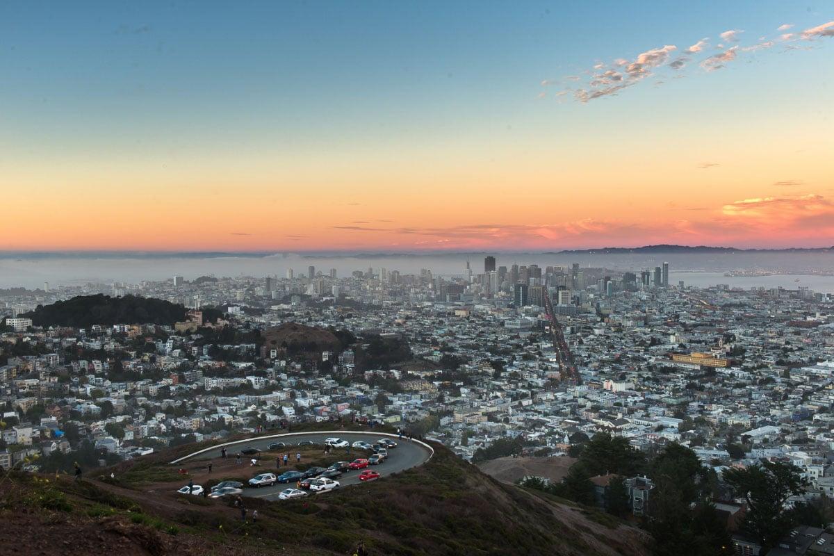 twin peaks boulevard san francisco sunset