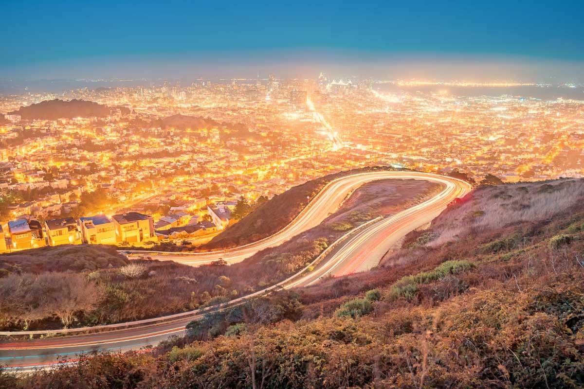 twin peaks boulevard sunset san francisco california