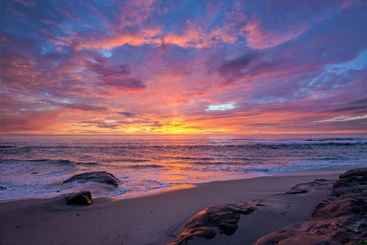 windansea beach sunset