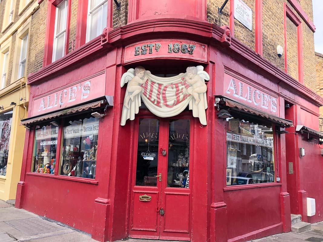 Alice's Portobello Road Notting Hill London
