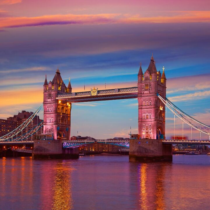 London Tower Bridge at Sunset