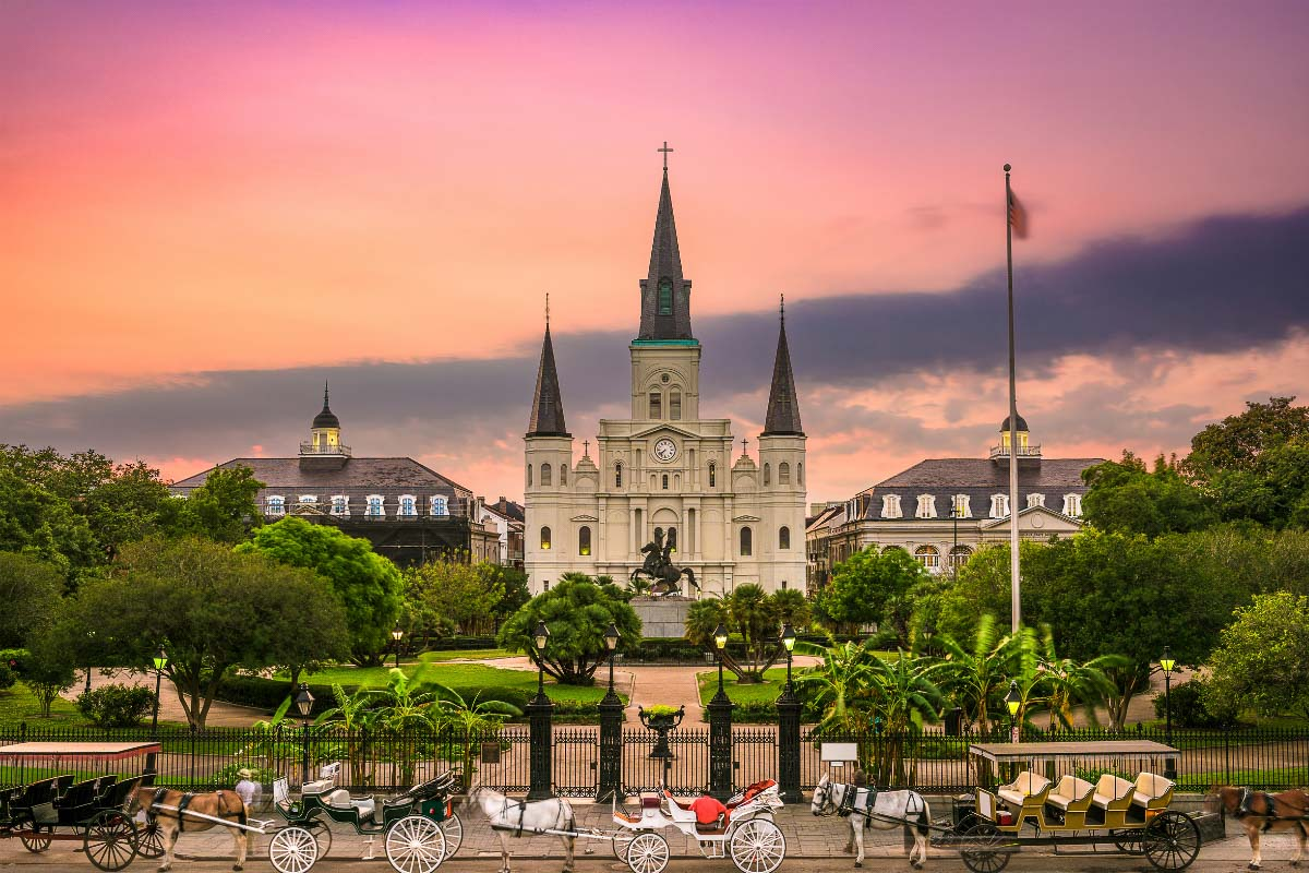 New Orleans Church one of the most beautiful cities in united states